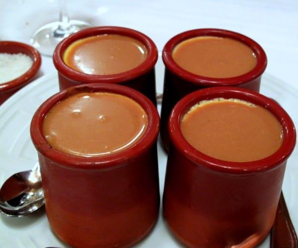 Pot de crème (natillas) de café y castañas
