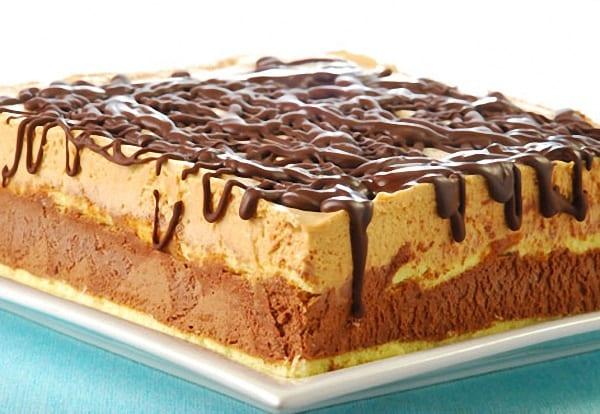 Tarta de crema en ambos extremos