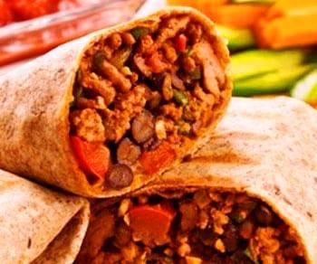 Burritos de chili con carne de pollo o pavo: completo y con poca grasa