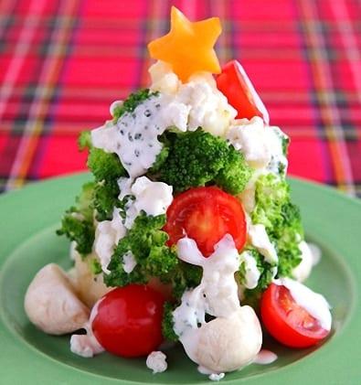 Ensalada en forma de Arbolito de Navidad Ensalada_navidad