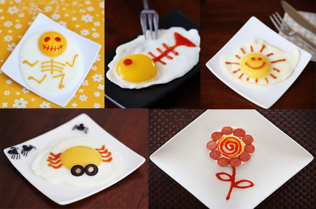 Huevos decorados, ideas para huevos fritos