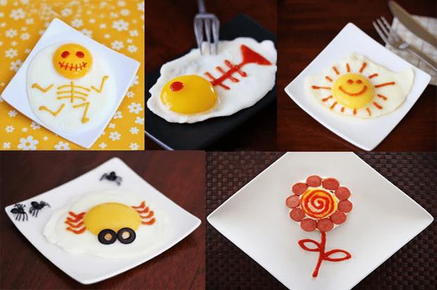 Huevos decorados, ideas para huevos fritos