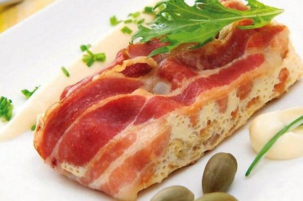 Pastel de col y bacon