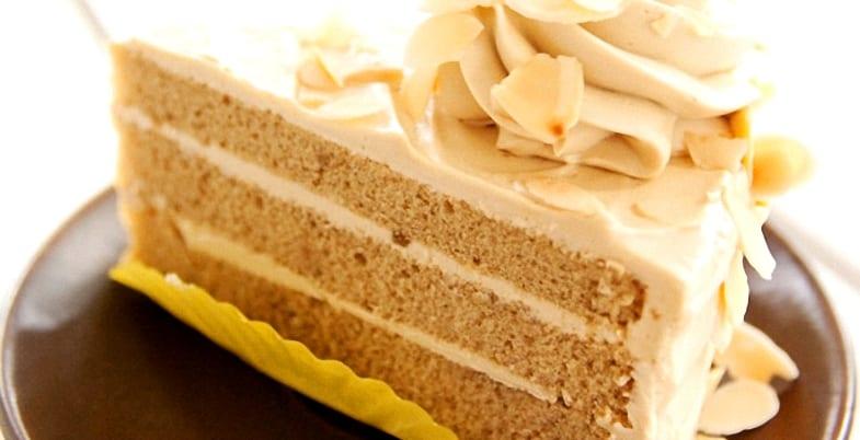 Tarta de moka o mocha cake
