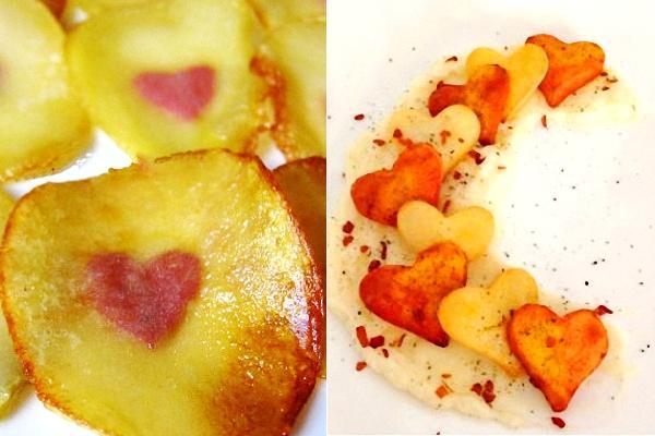 Patatas con corazón o corazón de patata
