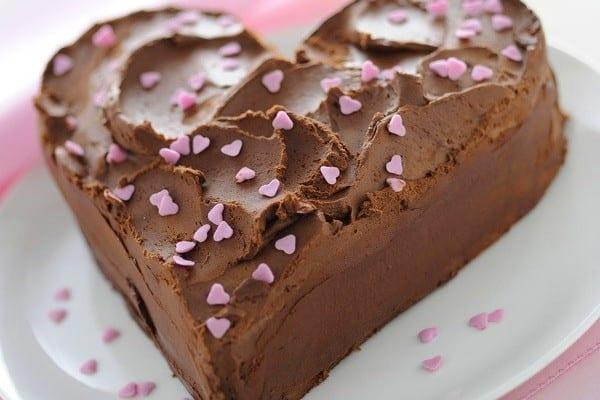 Tarta Sacher para San Valentín