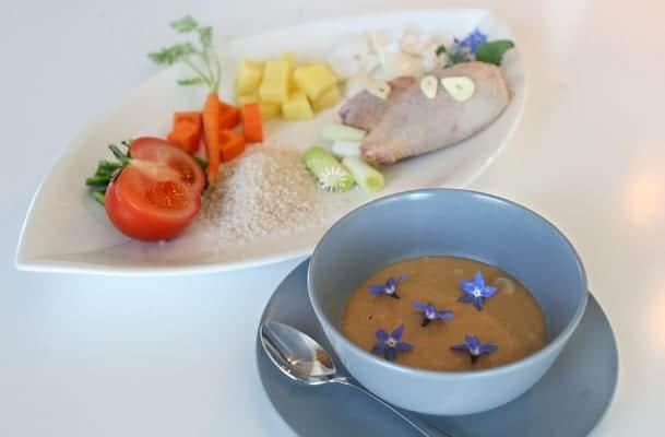 Pollo con verduras en potito