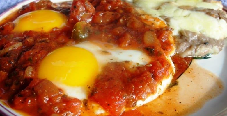 Huevos fritos a la mexicana