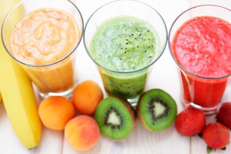 Smoothie de frutas al jengibre