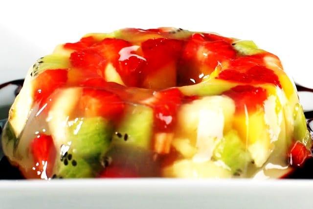 Gelatina multifrutas, receta con agar agar
