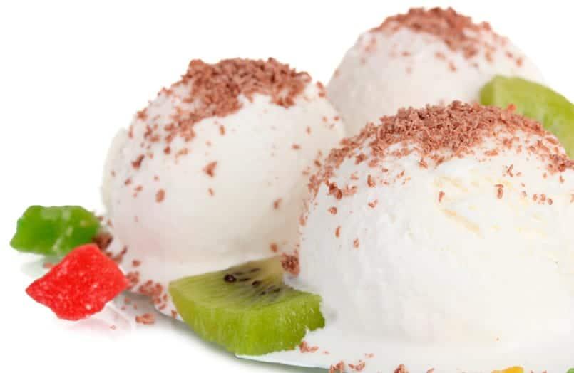 Helado de yogur y kiwi
