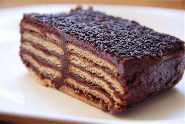Pastel Bagdad: galletas con chocolate