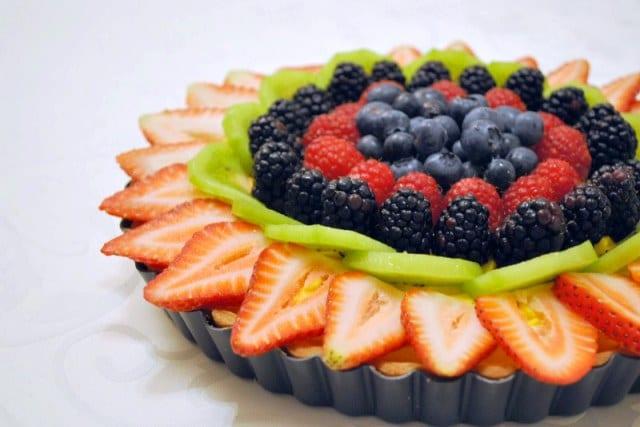 Tarta campestre de frutas