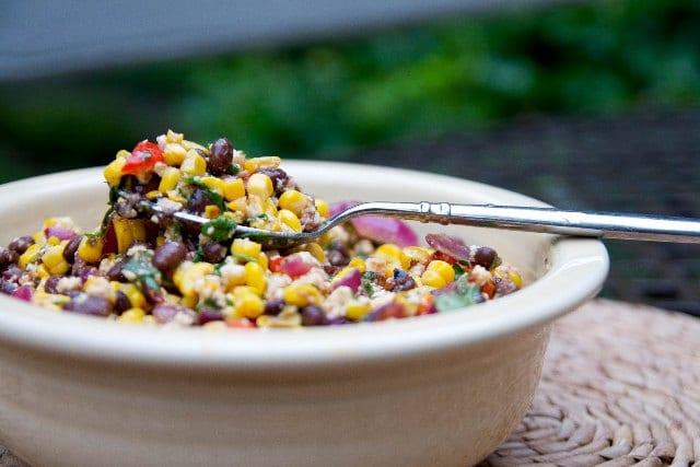 Ensalada de maíz y frijoles