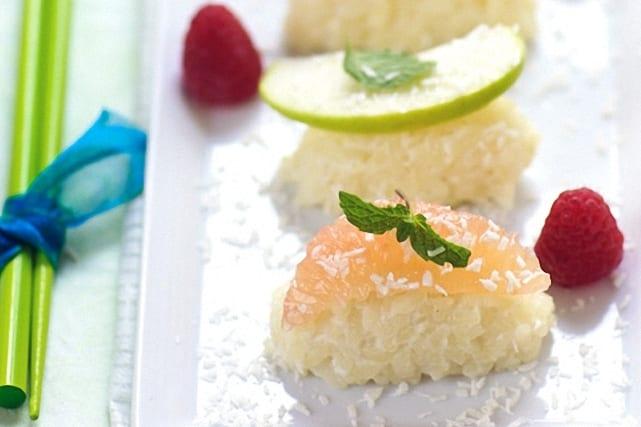 Sushi de frutas, cocinar con los niños