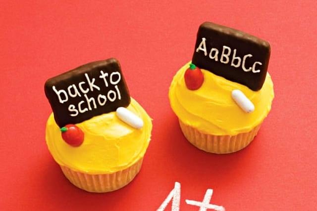 Cupcakes decorados: receta para la vuelta al cole