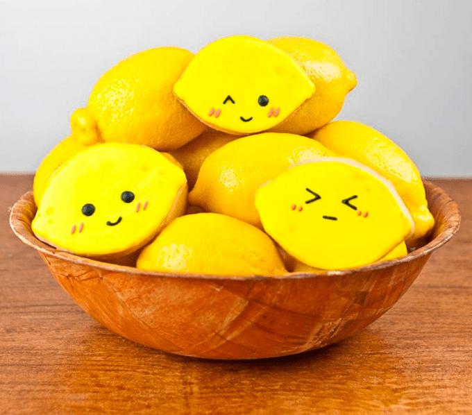 Galletitas con forma de limón, fines de semana divertidos en casa