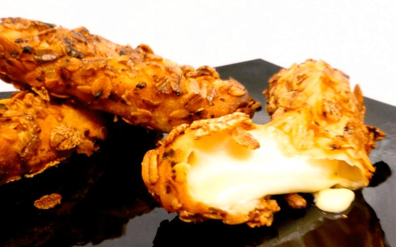 Palitos de mozzarella al horno, cenas más ligeras