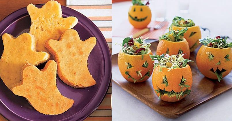 Ensalada y panecillos, entrantes sanos para Halloween