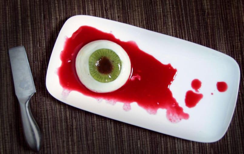 Panacota de yogur postre para halloween recet n for Cuarto frio cocina