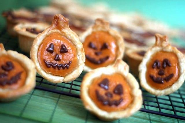 Quiche de calabaza para Halloween