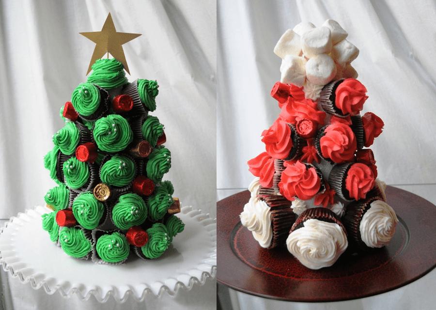 rbol de navidad de cupcakes