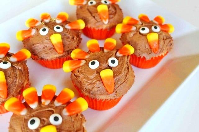 Cupcakes para el Día de Acción de Gracias