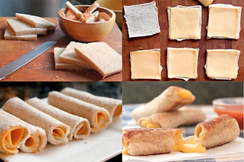 Rollitos de queso fundido, ¡simplemente deliciosos!