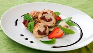 Pechugas de pollo en salsa de fresas