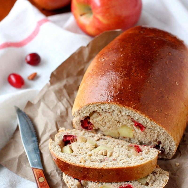 Pan de manzana para San Valentín