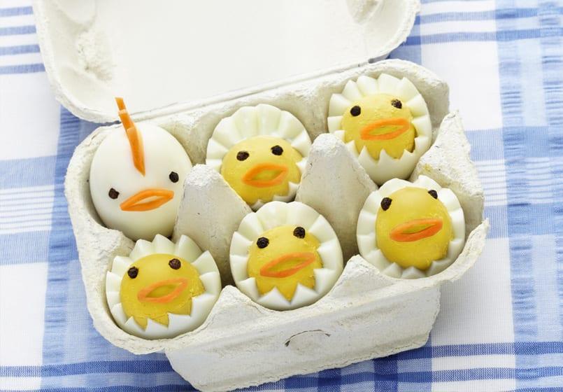 Huevos pollito ponles el relleno y disfruta de ellos