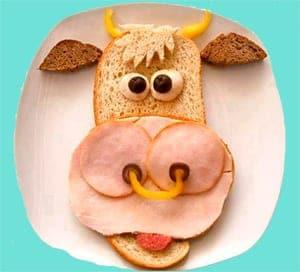 Sandwich de vaca, muuuuu divertido