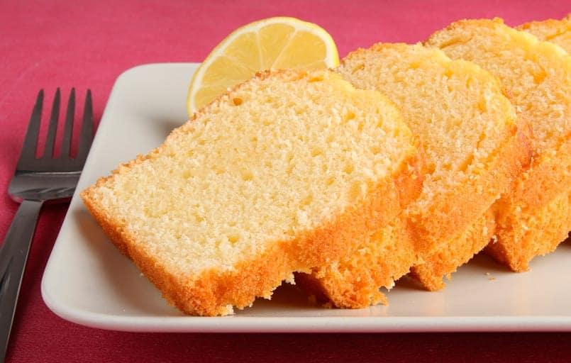 Bizcocho sin huevo con sabor a limón