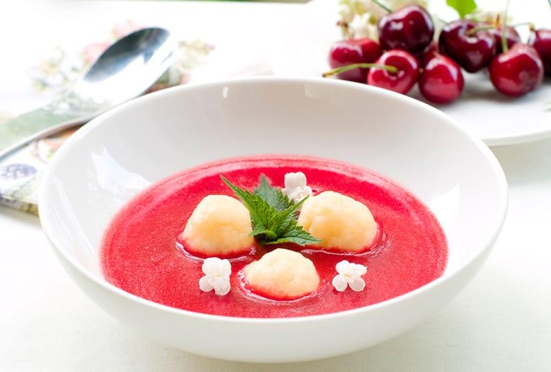 Sopa de fresas, un entrante muy refrescante