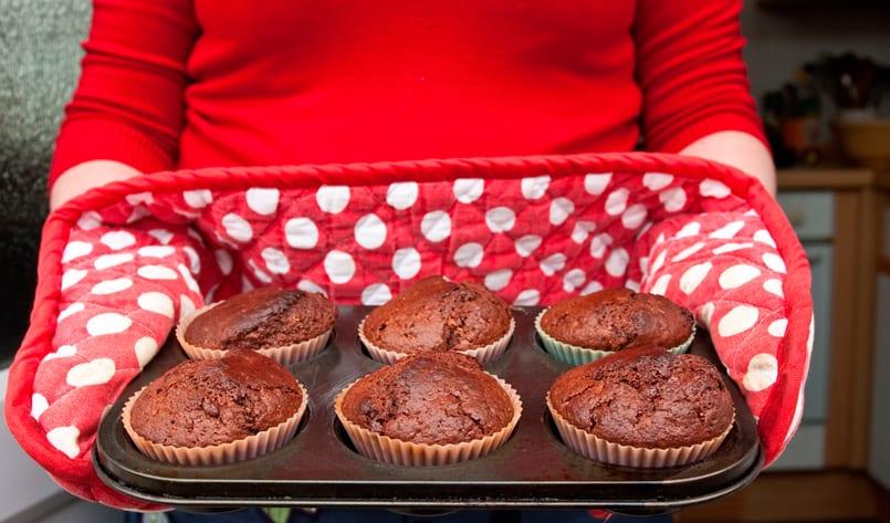 Muffins de chocolate, más que deliciosos