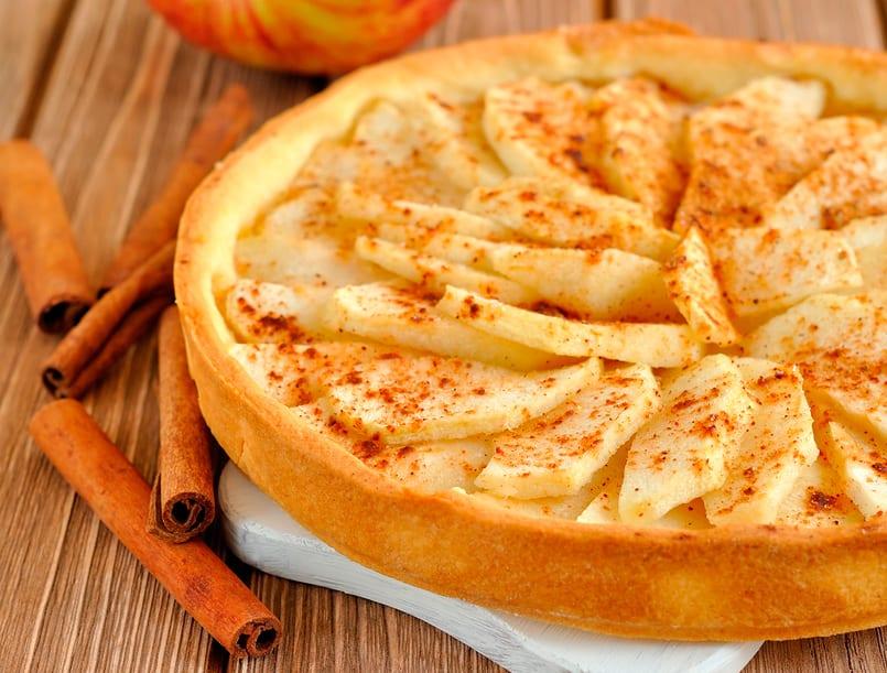 Tarta de manzana r pida y f cil recet n - Pure de castanas y manzana ...