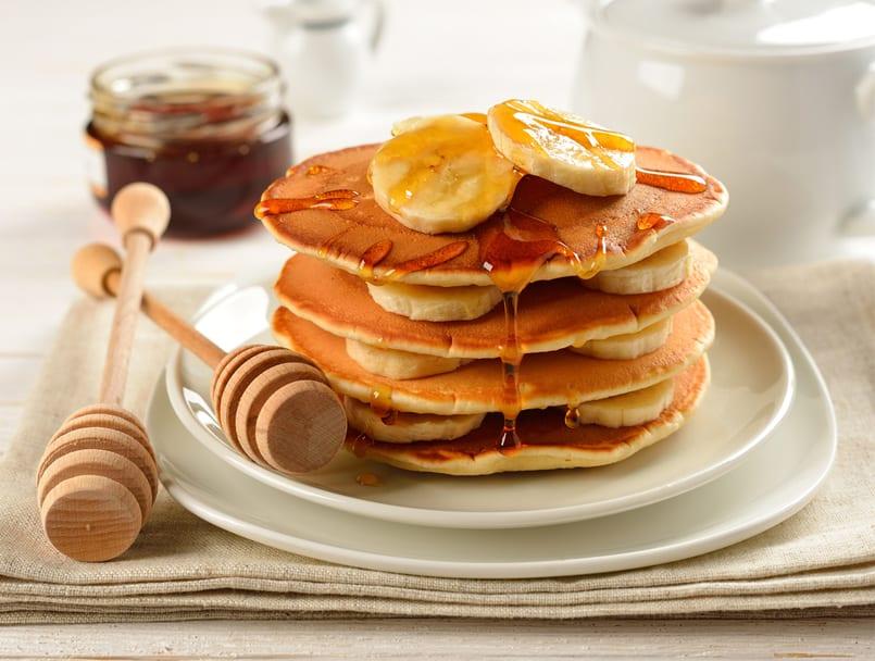 Pancakes de plátano, ¡al rico desayuno!