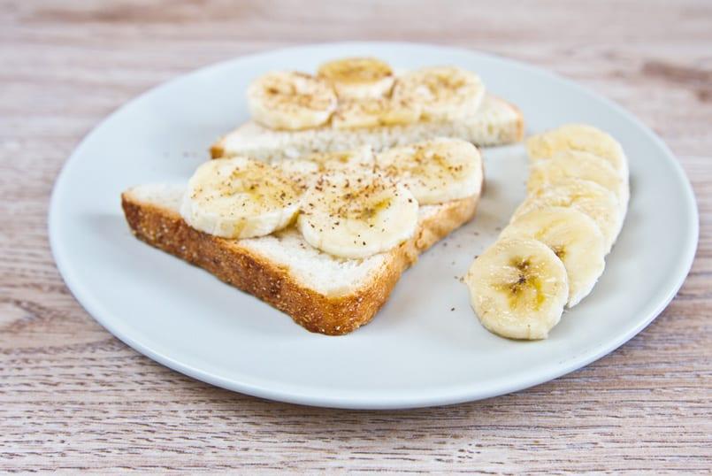 Meriendas especiales de plátano