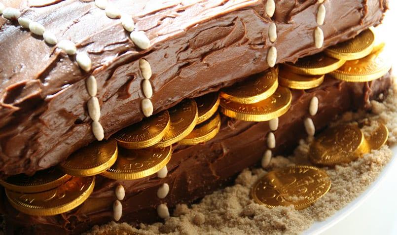 tarta del tesoro para un fin de semana muy pirata
