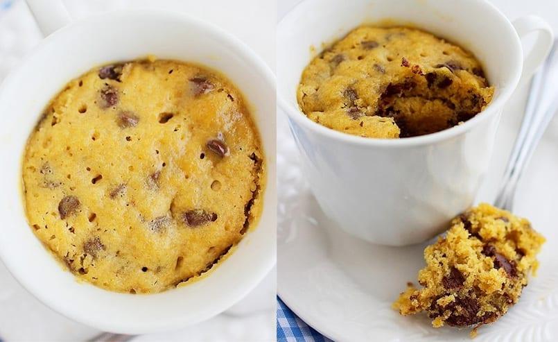Cómo hacer una galleta a la taza en 1 minuto