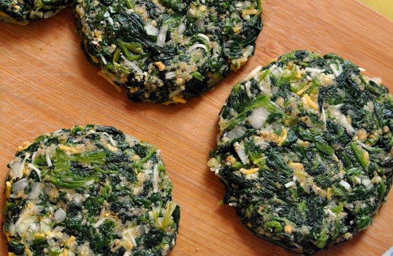 Hamburguesas de espinacas recet n - Hamburguesas vegetarianas caseras ...