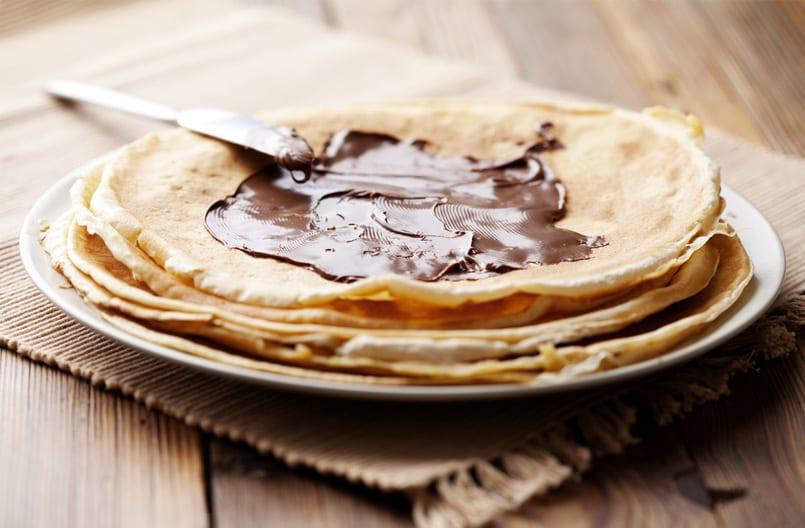 Cómo hacer crepes de Nutella paso a paso