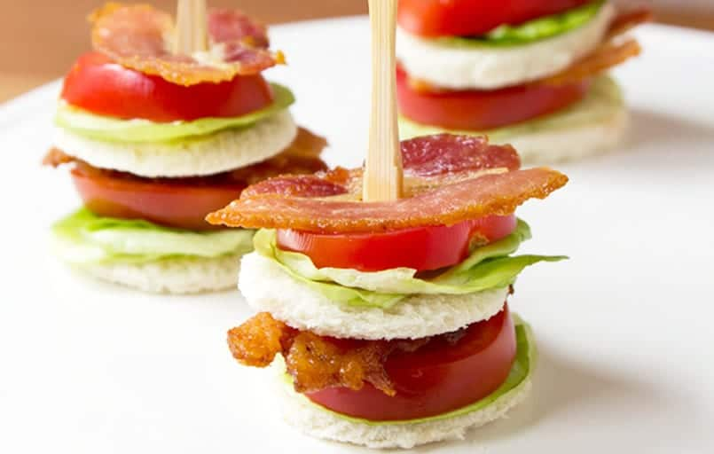 Sandwiches divertidos: Bocaditos especiales de bacon