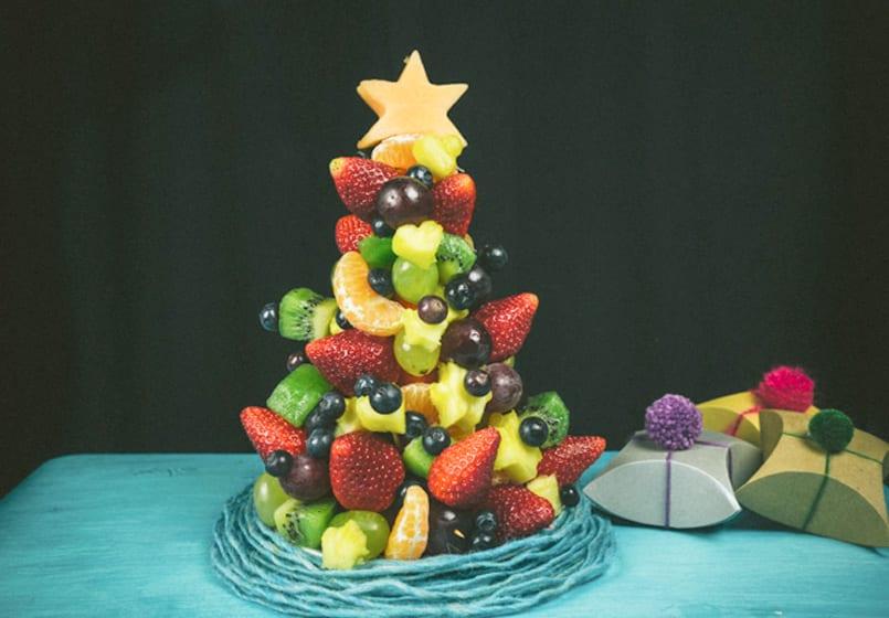 rbol de navidad de fruta