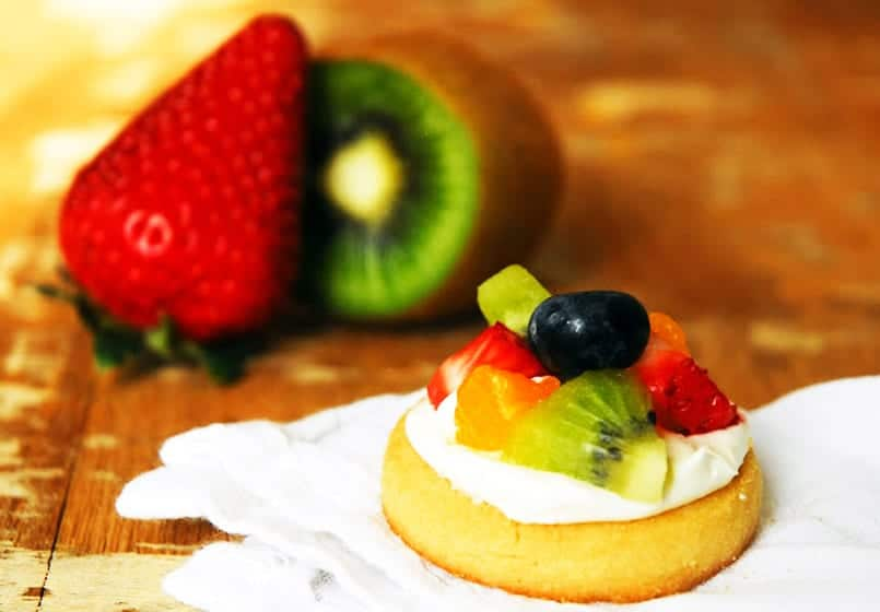 Minipizzas de fruta