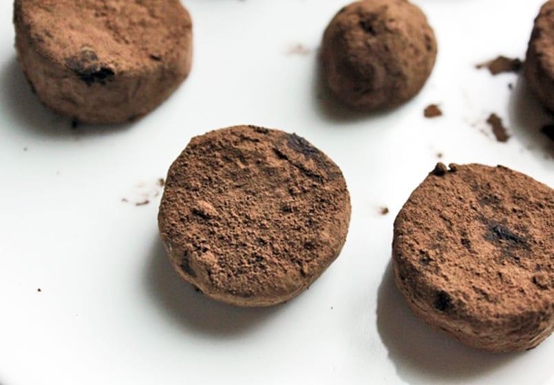 Bocaditos de plátano chocolateado