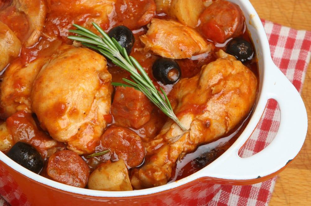 Muslos de pollo en salsa de tomate recet n for Muslos pollo en salsa