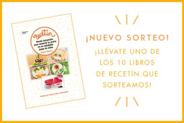 ¡Nuevo sorteo! Llévate uno de los 10 libros de Recetin que sorteamos!