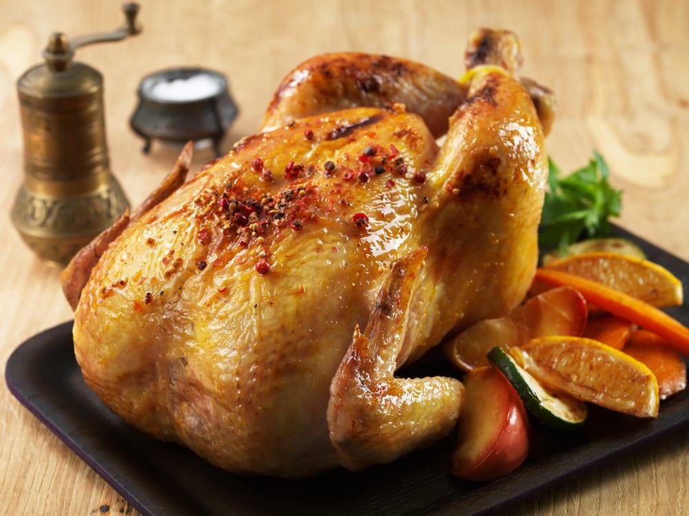 Pollo al horno con c tricos recet n - Salsas para el pollo al horno ...