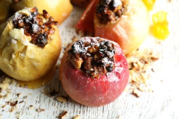 Manzanas rellenas de avena, un buen desayuno